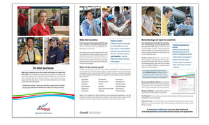 <b>BioTalent Canada</b><br />Biomanufacturing Program/Job Seekers brochure