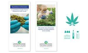 <b>Cannabis Canada Association</b><br />Print collateral