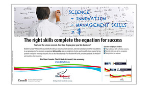 <b>BioTalent Canada</b><br />Skill Profile print ad/National Post