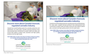 <b>Cannabis Canada Association</b><br />Print and online ads